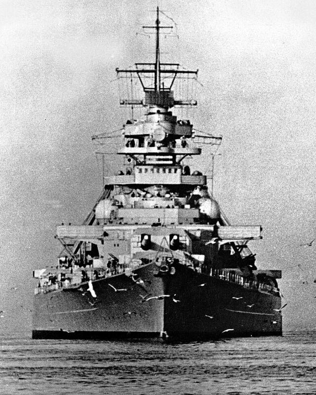 New 8x10 World War II Photo: German Battleship BISMARCK of the Kriegsmarine