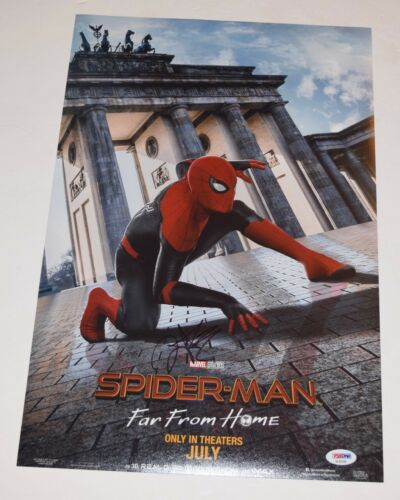 Zendaya Coleman Signed SPIDER-MAN FAR FROM HOME 12x18 Movie Poster PSA/DNA COA