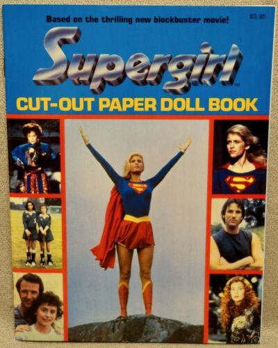 1984 SUPERGIRL Paper Doll Book - MINT UNCUT ORIGINAL