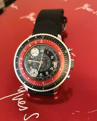 Cimier Vintage Swiss Watch (stop/ start) rare Chronograph. Jewelled movement.