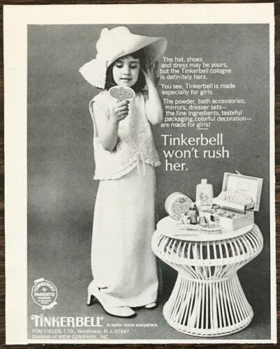 1968 Tinkerbell Toiletries Cologne For Girls Print Ad Girl Wearing Mom
