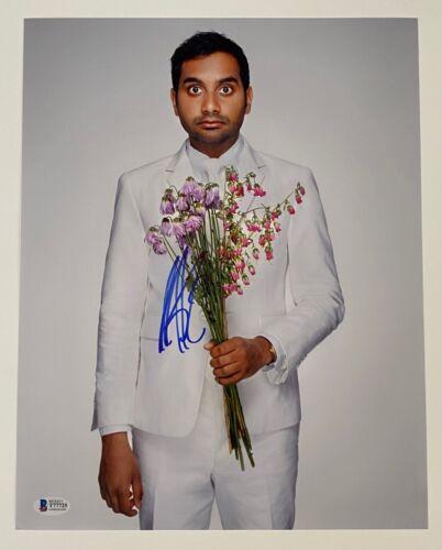 Aziz Ansari Signed Autographed 11x14 Photo PARKS AND RECREATION Beckett BAS COA