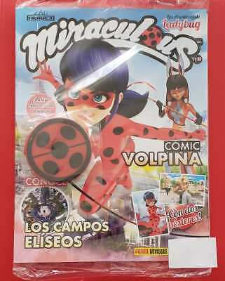 MIRACULOUS LADY BUG Adventures Two Posters Mexican Magazine with One Mirror Pani (Ladybug Mirror)