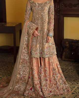 Latest Indian pakistani designer royal wedding gown best reception dress ever (Best Wedding Gowns Ever)
