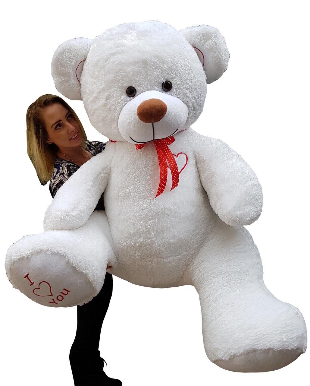 XXL Teddybär Plüsch Kuschel Stoff Tier Riesen Teddy Bär Valentinstag Geschenk XL Weiß
