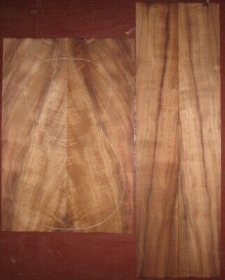 Hawaiian koa parlor guitar back-side wood set, luthier tonewood