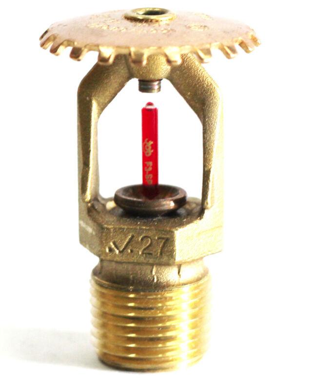 "Victaulic V2704 1/2"" NPT, 155* Quick Response Brass Upright Fire Sprinkler Head"