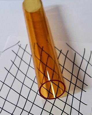 2 Inch Clear Amber Acrylic Plexiglass Lucite Tube 2 Od 1 34 Id X 24 Long