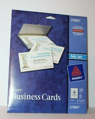 Avery Business Card Sheets (AVERY 27883 IVORY BUSINESS CARDS 100 CARDS 10 SHEETS 2