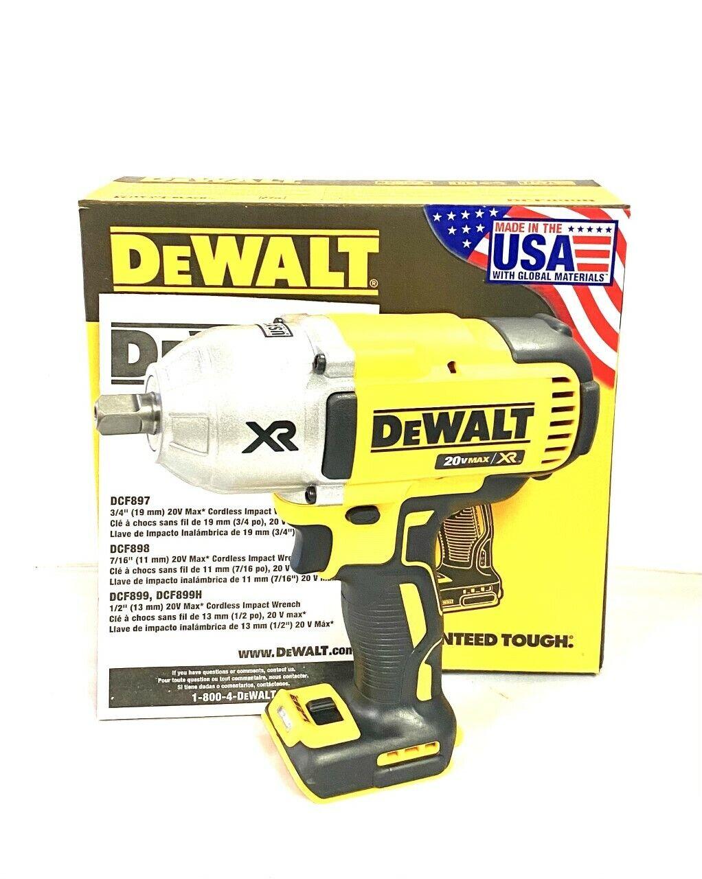 DEWALT 20V MAX Li-Ion 1/2 in. Detent Pin Impact Wrench DCF899B New (BT)
