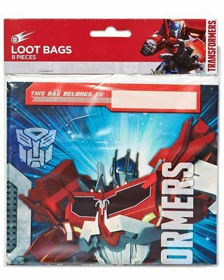 Transformer Themed Kids Party Loot Gift Bags, 8 Count  (Transformers Party Theme)