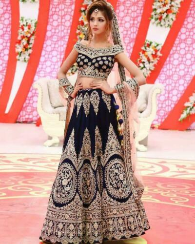 Party Wear Pakistani Indian Lehenga Wedding Sari Bridal Designer Lengha Choli