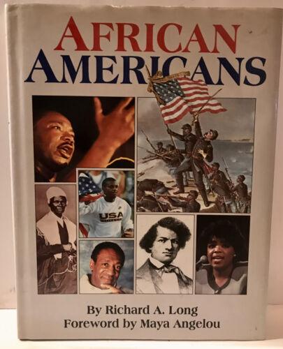 RARE BOOK AFRICAN AMERICANS RICHARD A LONG MAYA ANGELOU FREE SHIPPING