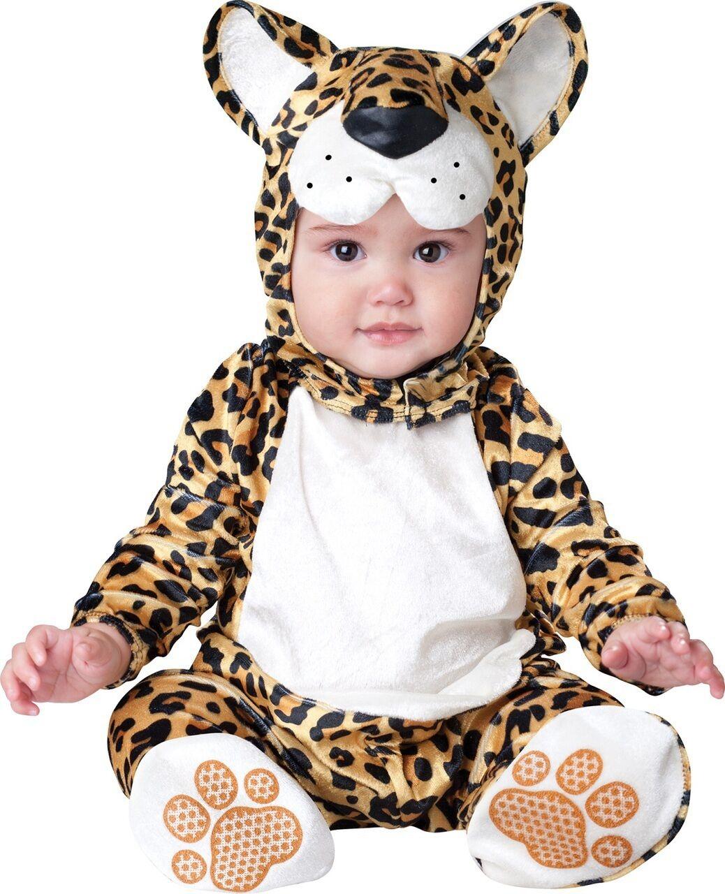 3e180e7f2d22 Baby Girls Boys Leopard Cat Animal Halloween Fancy Dress Costume Outfit  0-24mths