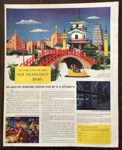 1940 Californians Inc New Golden Gate International Exposition Print Ad
