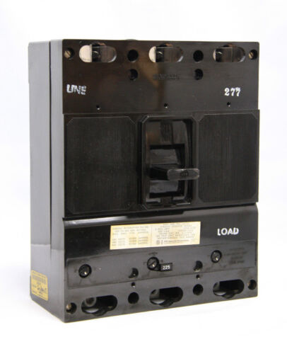 Gould ITE JL3B225 3 Pole 225A 600V Circuit Breaker JL3F400 + Test Report