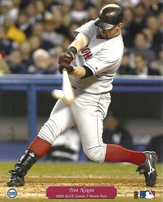 TROT NIXON 8x10 (2003 ALCS Game 7 Home Run) BOSTON RED SOX Baseball Action Photo 2003 Alcs Game 7