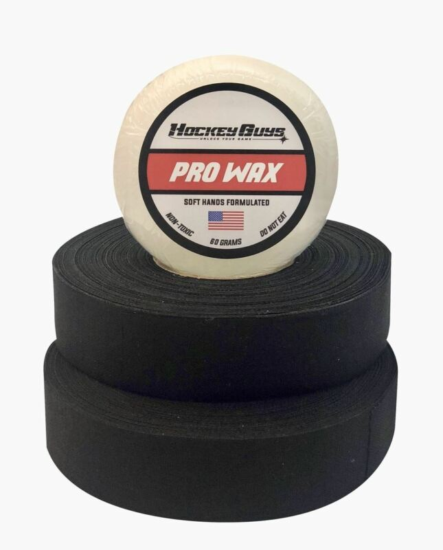 HockeyGuys Pro Stick Wax and Black Tape Pack