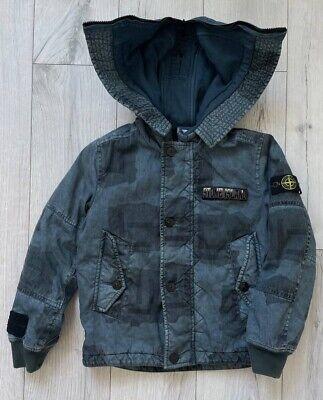 Stone Island Jacket Camo Junior Size 10/140 Blue Camouflage