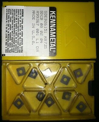 Kennametal Sdeb26151 K8735 Carbide Inserts - Box Of 10