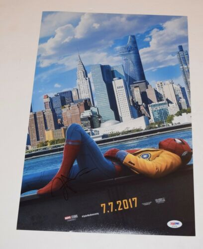 Zendaya Coleman Signed SPIDER-MAN HOMECOMING 12x18 Movie Poster PSA/DNA COA