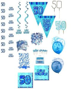 50 geburtstag blau silber konfetti ballons girlanden. Black Bedroom Furniture Sets. Home Design Ideas