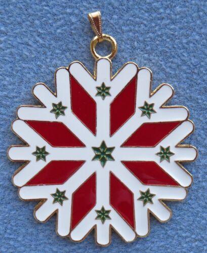 2016 Wallace Gold Plated Wonders of Christmas Snowflake Ornament 7th Ed NIB