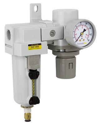 Pneumaticplus Compressed Air Filter Regulator 34 Npt Sau4020m-n06dg-mep R
