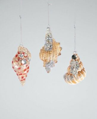 Jeweled Trumpet Shell Ornaments - Christmas - Katherine's Collection 22-722854