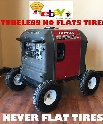 Wheel Kit For Honda Generator Eu3000is - Solid Never Flat Tires - All Terrain