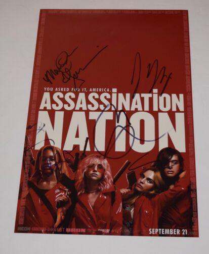 Assassination Nation Cast Signed 11x17 Photo Poster x7 Maude Apatow Abra COA