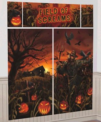 Field Of Screams Scene Setters Wall Decoration Kit Halloween - Halloween Wall Scene Setters