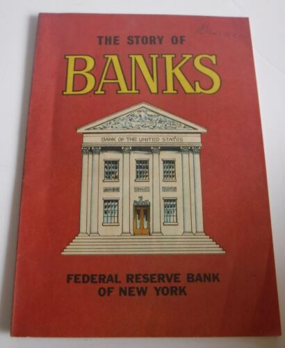 Vintage 1979 The Story of Banks Comic Book Federal Reserve Bank of New York