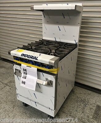 New 24 4 Burner Gas Range Standard Oven Imperial Ir-4 4580 Commercial Nsf