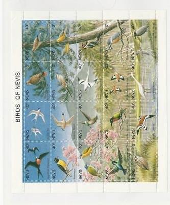 Nevis, Postage Stamp, #664 Mint NH Sheet, 1991 Birds