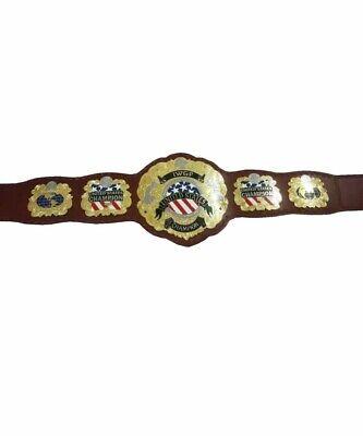 iwgp UNITED STATES championship belt adult size replica 4MM THICK PLATES - United States Championship