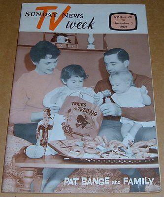 1962 Tv Week Cover Only Pat Bange Family Halloween Wgal News Philadelphia Pa