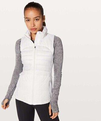 Lululemon White Down For A Run Vest Size Womens 4