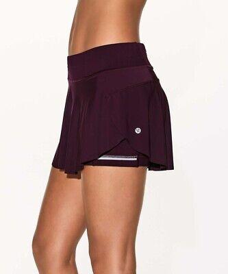 Excellent Lululemon Sz 10 Quick Pace Skirt Dark Adobe Running Tennis Golf