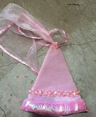 nwot pink PRINCESS cone HAT w VEIL flower sequins renaissance rapunzel halloween](Princess Cone Hat)
