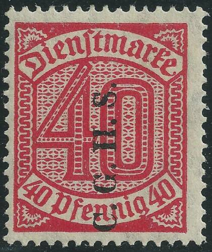 UPPER SILESIA STAMP - 1920 - 40pf - CGHS OVERPRINT #044 - MH