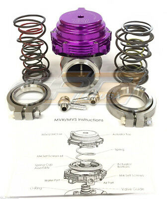 Tial MVR 44mm Wastegate With V Band Flanges All Springs Pressure Included Purple