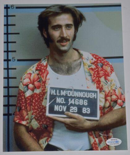 Nicolas Cage Signed Autographed 8x10 Photo Raising Arizona ACOA COA