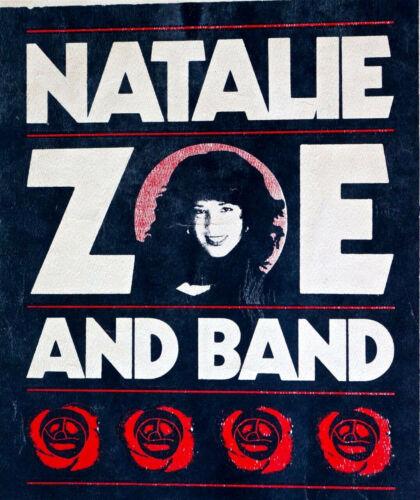 NATALIE ZOE BAND AUSTIN 1985 RARE Original  Poster SILKSCREENED