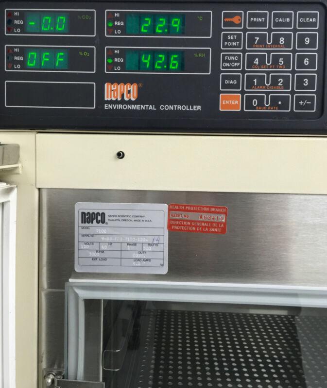 NAPCO 7100 LAB INCUBATOR TEMPERATURE HUMIDITY AND CO2 CONTROL