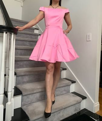 Elegant Pink Short Homecoming Pageant interview Dress Brand NEW