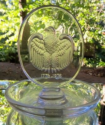 Lalique Crystal Eagle Aigle Pin Ring Tray Signed France Mint With Label Lalique Pin Tray
