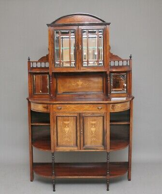 19th Century rosewood and inlaid cabinet