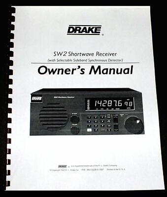 "8 1/2 x 11"" REPRINT OWNER'S MANUAL for the DRAKE SW2 SHORTWA"