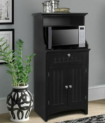 OS Home and Office Microwave/Coffee Maker Utility Cabinet in Black